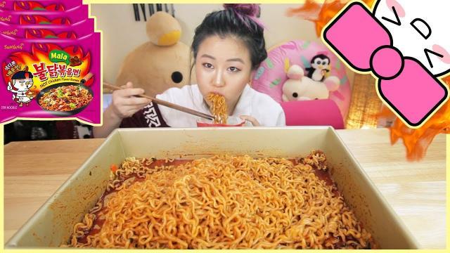 Food Challenge | 4x Mala Spicy Noodle Challenge