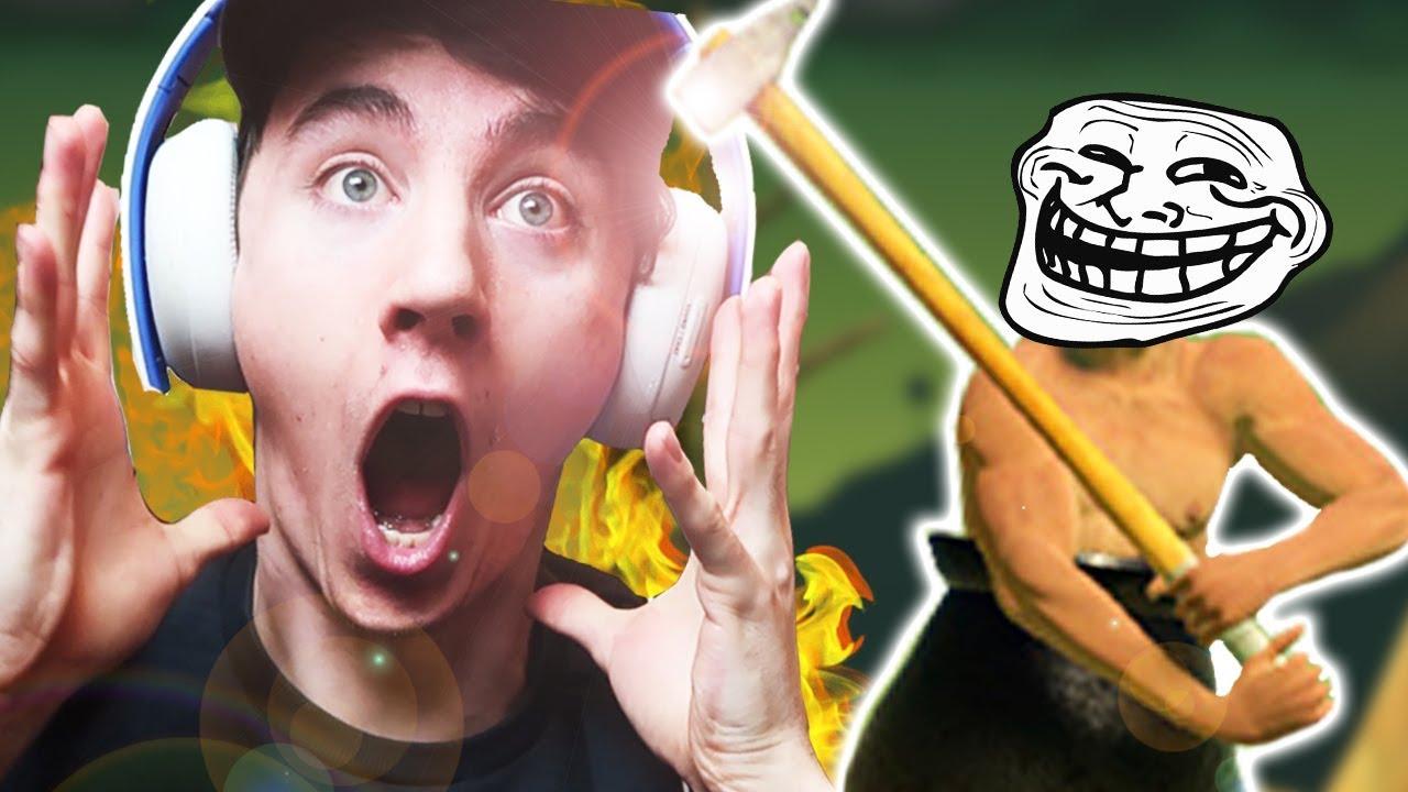 超有病遊戲【鐵鎚爬山Getting Over It】讓 YouTuber 實況主都崩潰的遊戲!