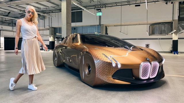 【超跑金髮網美】這車是活的!?寶馬下一個百年概念實車「Vision Next 100」中文解譯