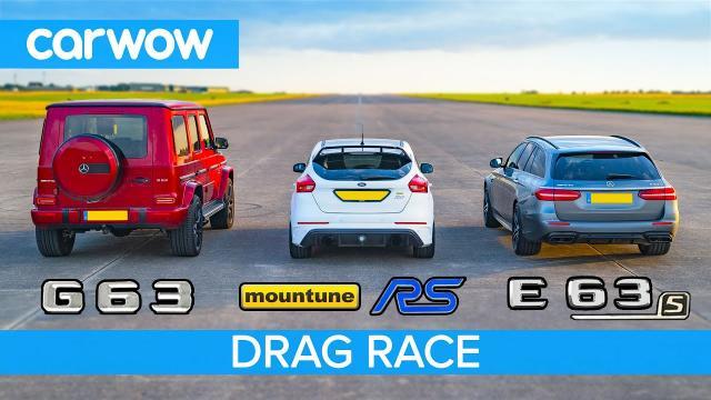AMG E63s vs AMG G63 vs 520匹的Focus RS-直線加速,動態起跑和煞車測試