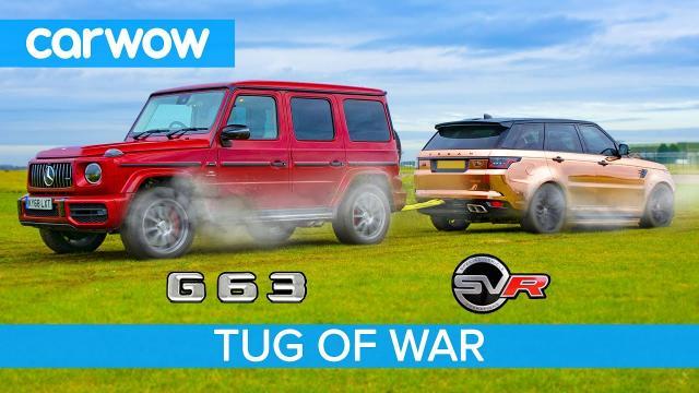 AMG G63 vs Range Rover Sport SVR: 拔河大戰