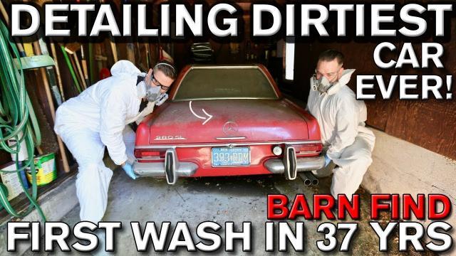 【超療癒】給父親驚喜!幫37年來沒洗過的老賓士280 SL,拿來清洗