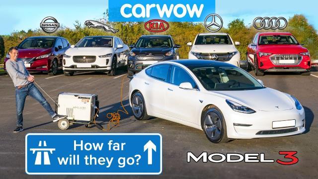 【實測】將六款電動車開到直到電池乾掉!誰才是真續航力!?(全中文)