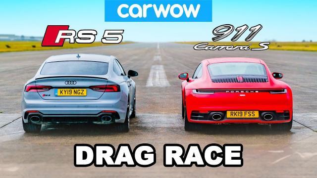 奧迪Rs5 vs 保時捷911 直線加速賽!!