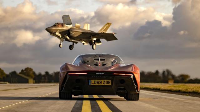 F-35戰機 vs 最速麥拉倫Speedtail|含中文 Top Gear