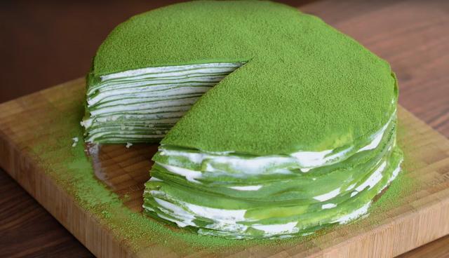 免烤箱抹茶千層蛋糕